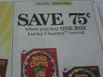 $.75/1 box Lucky Charms Cereal 11/19/2016