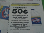 $.50/1 Clorox Liquid Bleach 55oz+ 3/5/2017