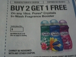Buy 2 Get 1 FREE Purex Crystals 18oz In Wash Fragrance Booster 2/19/2017