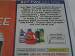 Buy 2 Tide Detergent 69oz+ Get 1 Downy Farbic Softener 41/51oz, Fresh Protect, Unstoppables, Fireworks, Dreft Blissfuls FREE 2/25/2017